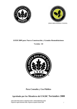LEED-NC v3.0 EN ESPAÑOL - Spain Green Building Council