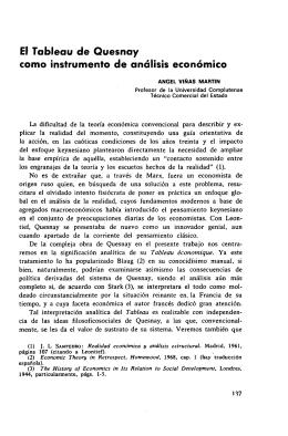 El Tableau de Quesnay como instrumento de análisis