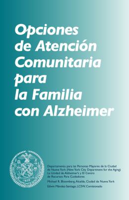 Opciones de Atención Comunitaria para la Familia con Alzheimer
