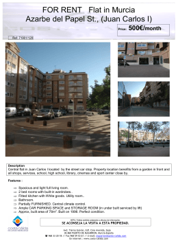 FOR RENT Flat in Murcia Azarbe del Papel St., (Juan