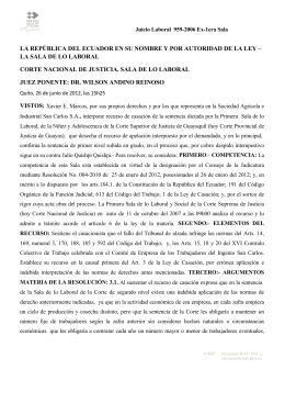 CORTE NACIONAL DE JUSTICIA