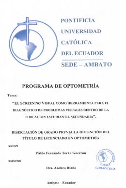 pontificia universidad católica del ecuador sede - ambato