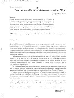 Panorama general del cooperativismo agropecuario en México