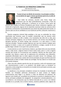 EL PODER DE LOS PRINCIPIOS CORRECTOS