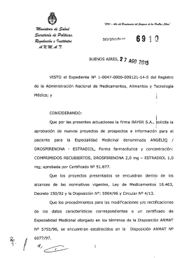 Disposición 6910 - 15