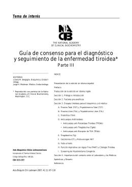Guía de consenso para el diagnóstico y seguimiento de la