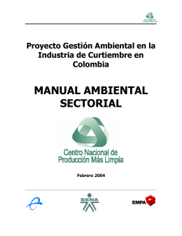 MANUAL AMBIENTAL SECTORIAL