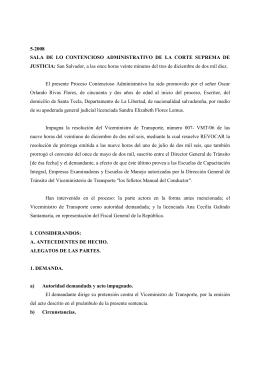 5-2008 SALA DE LO CONTENCIOSO ADMINISTRATIVO DE LA