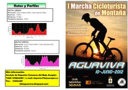 Folleto Marcha Cicloturista Aguaviva 2012