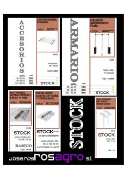 novedades accesorio armarios stock