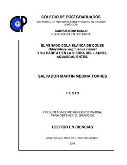 COLEGIO DE POSTGRADUADOS INSTITUCIÓN DE ENSEÑANZA