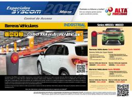 Barreras Vehiculares Control Total en Acceso Vehicular