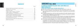 CARACTERÍSTICAS DE UN RELOJ MECÁNICO CAL. 8R28