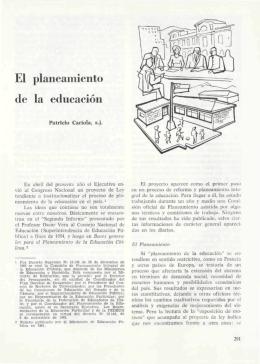 El planeamiento de la educación