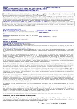 INFRAESTRUCTURAS GLOBAL, FIL (EN LIQUIDACION)