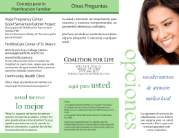 lo mejor - Coalition for Life