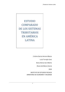 estudio comparado de los sistemas tributarios en américa latina