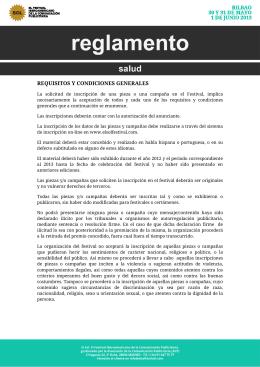 REQUISITOS Y CONDICIONES GE S Y CONDICIONES GENERALES