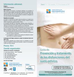 Descargar Folleto - Colegio Profesional de Fisioterapeutas