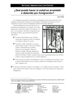 Que hacer si es detenido por agentes de Inmigracion?