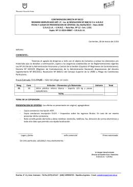 CONTRATACION DIRECTA Nº 04/15 REGIMEN SIMPLIFICADO
