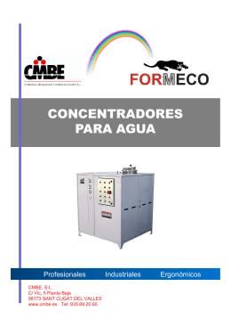 Evaporadores concentradores para aguas