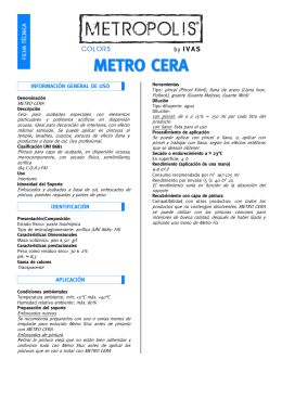Ficha técnica METRO CERA
