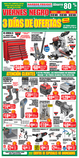 LOTE Nº - Harbor Freight Tools