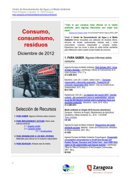 Consumo - Ayuntamiento de Zaragoza