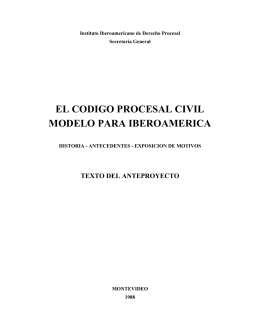 Código Procesal Civil Modelo para Iberoamérica