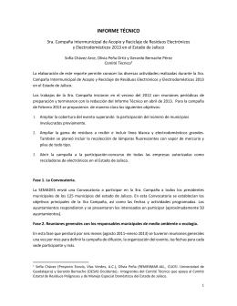 Programa Estatal de Electroacopio 2013