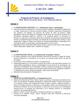 Proyectos de Investigación - Instituto Social Militar Dr. Dámaso