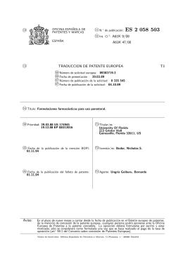 formulaciones farmaceuticas para uso parenteral.