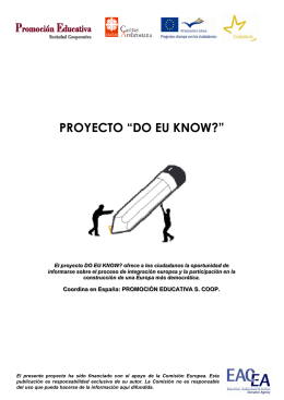 "PROYECTO ""DO EU KNOW?"""