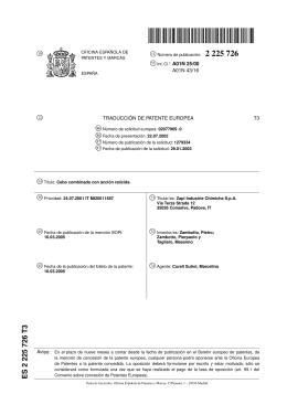 CEBO COMBINADO CON ACCION RATICIDA.(ES2225726)