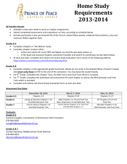 Home Study Requirements 2013-2014