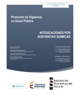 PRO Intoxicaciones - Instituto Nacional de Salud