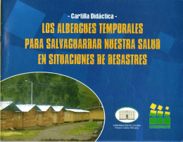 ALBERGUES TEMPORALES PARA - Gestión del Riesgo Manizales