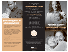 Paid Family Leave Brochure - Spanish Vers. (DE 2511/S)