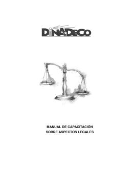 manual de capacitación sobre aspectos legales