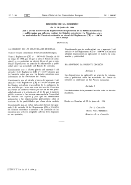 Decisión C(96)455/CE por la que se establecen las medidas