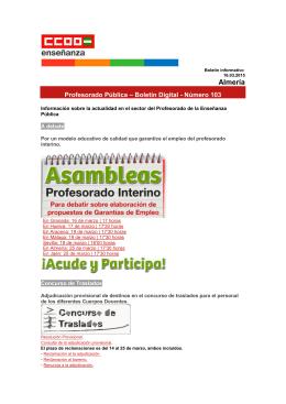 Almería - Federación de Enseñanza de CC.OO. de Andalucía