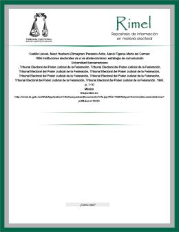 TEPJF-RIMEL.1994 Instituciones electorales vis a vis