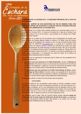 II JORNADAS DE LA CUCHARA 2013