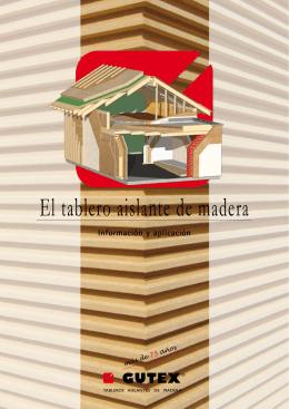 El tablero aislante de madera