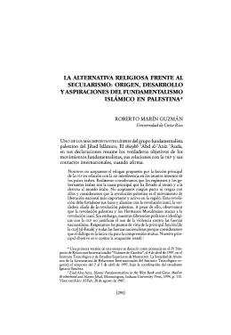 la alternativa religiosa frente al secularismo: origen, desarrollo y