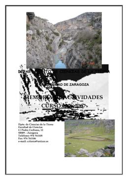 MEMORIA DE ACTIVIDADES CURSO 2006-2007