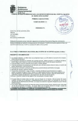 Enmiendas - Sistema de Contrataciones Estatales