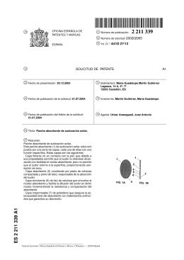 PARCHE ABSORBENTE DE SUDORACION AXILAR.(ES2211339)