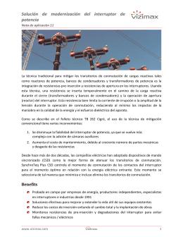 Solución de modernización del interruptor de potencia